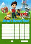 Personalised Paw Patrol Reward Chart (adding photo option available)